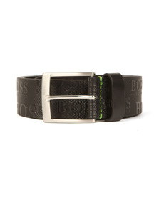 Boss Green Mens Black Torialo Belt