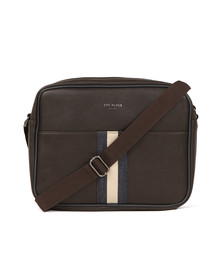 Ted Baker Mens Brown Webbing Despatch Bag