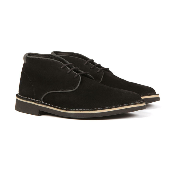 H By Hudson Mens Black Margrey Suede Boot