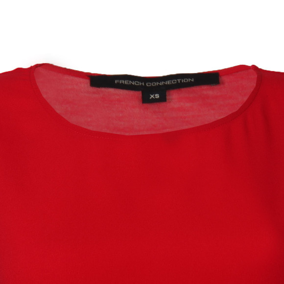 French Connection Womens Red Classic Crepe Short Sleeve Top main image