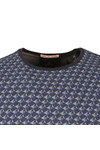Scotch & Soda Mens Blue Classic Patterned Crew T Shirt