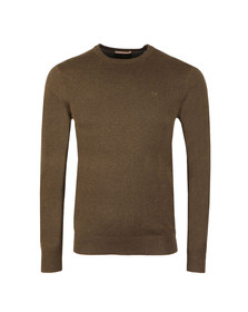 Scotch & Soda Mens Green Classic Crew Neck Pullover