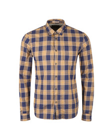 Scotch & Soda Mens Brown Large Check Shirt