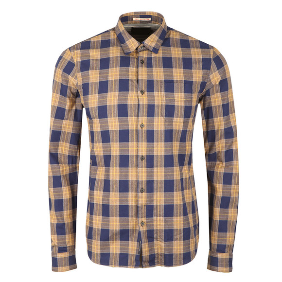 Scotch & Soda Mens Brown Large Check Shirt main image