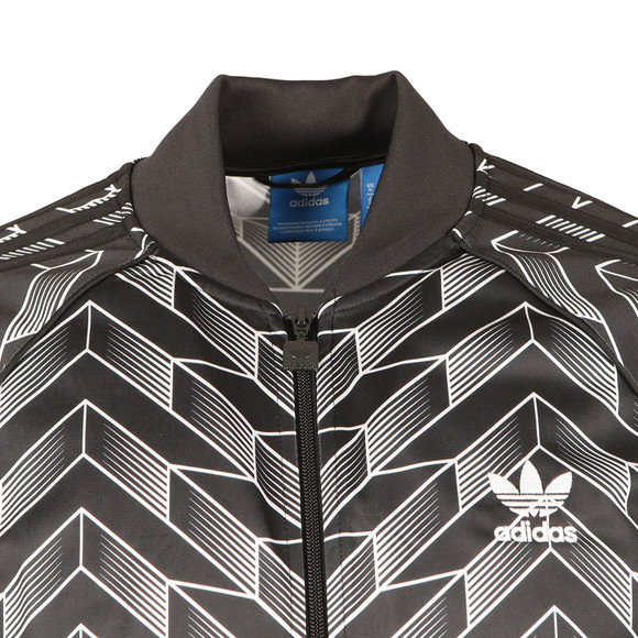 adidas Originals Mens Black Soccer SST Track Top main image