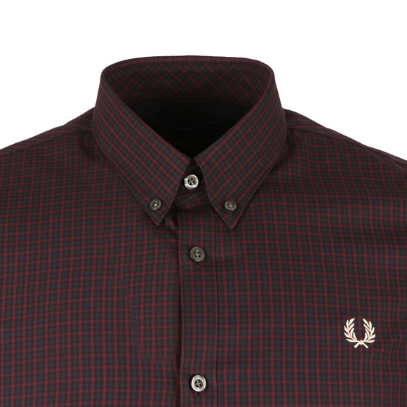 Fred Perry Mens Brown 3 Colour Basketweave LS Shirt main image
