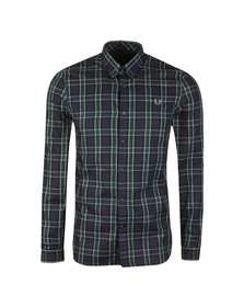 Fred Perry Mens Blue Enlarged Tartan LS Shirt