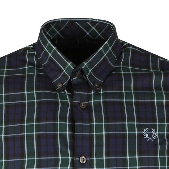 Fred Perry Mens Blue Enlarged Tartan LS Shirt main image