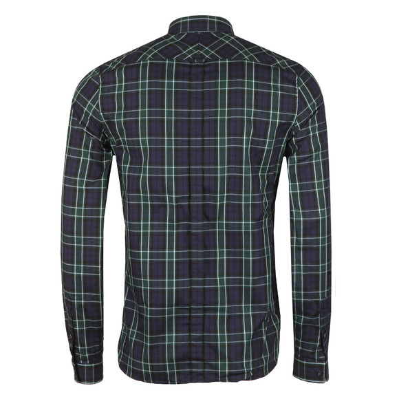 Fred Perry Mens Blue Enlarged Tartan LS Shirt main image