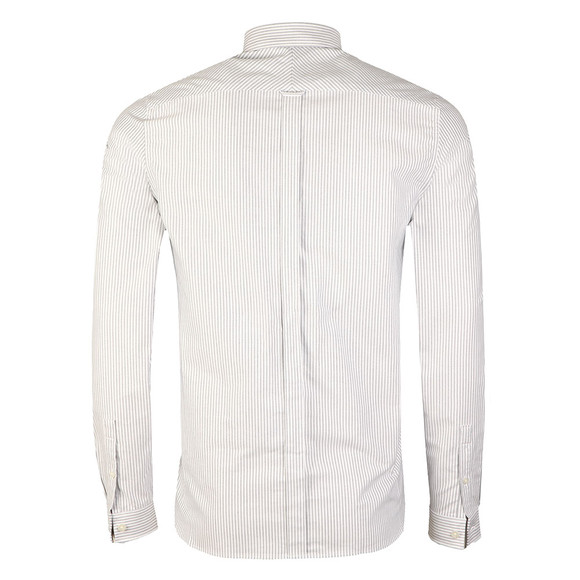 Fred Perry Mens White Oxford Stripe LS Shirt main image