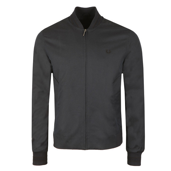 Fred Perry Mens Blue Woven Pique Bomber Jacket main image