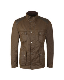 Barbour International Mens Green Weir Wax Jacket