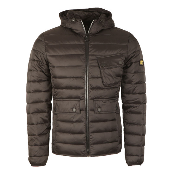 Barbour International Mens Black Ouston Hooded Quilt