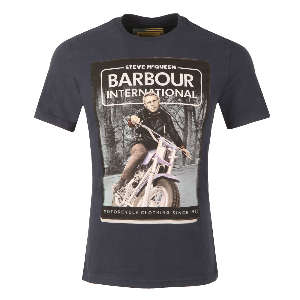 Barbour Int Steve Mcqueen Woodland Ride Tee Oxygen Clothing
