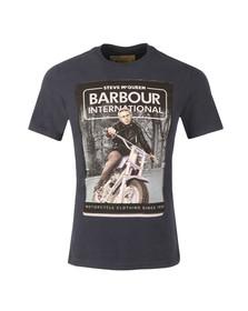 Barbour Steve McQueen Mens Blue Woodland Ride Tee