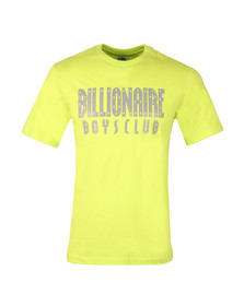 Billionaire Boys Club Mens Yellow Reflective Logo T Shirt