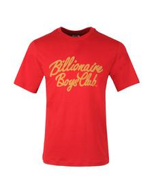 Billionaire Boys Club Mens Red Flock Script Logo T Shirt