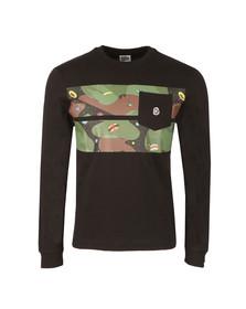 Billionaire Boys Club Mens Black Space Camo Stripe Long Sleeve T Shirt