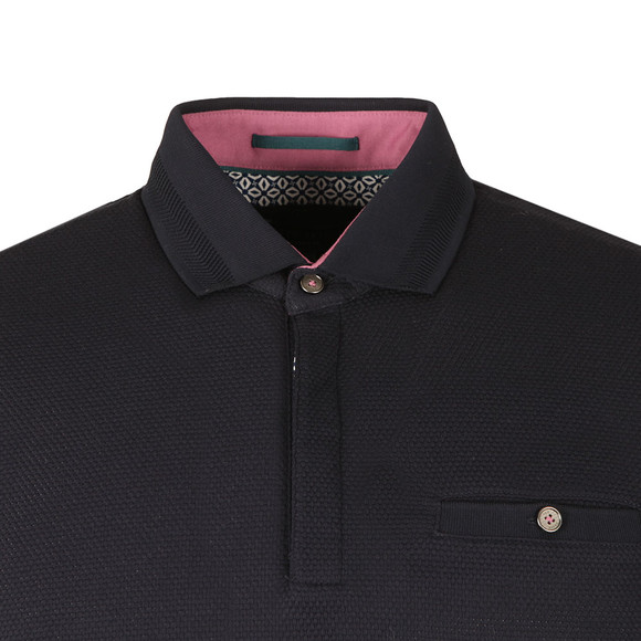 Ted Baker Mens Blue S/S Textured Polo main image