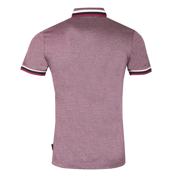 Ted Baker Mens Purple S/S Flat Knit Colar Polo main image