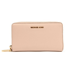 Michael Kors Womens Pink Mercer Large Leather Phone Case
