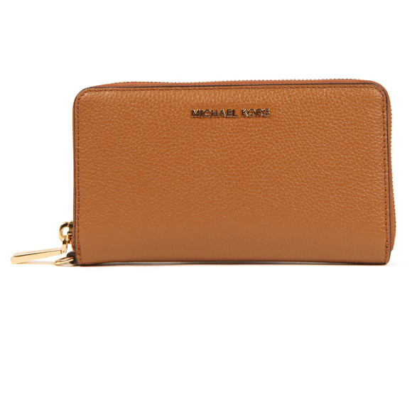 Michael Kors Womens Brown Mercer Large Leather Phone Case main image