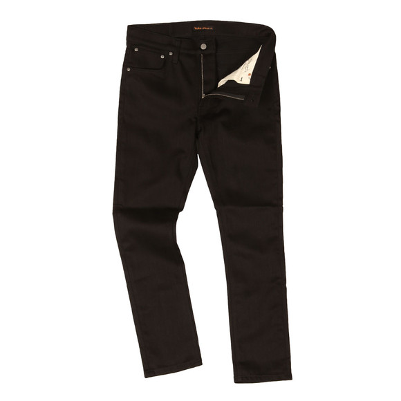 Nudie Jeans Mens Black Lean Dean Jean main image