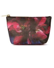 Ted Baker Womens Black Leaa Impressionist Bloom Make Up Bag