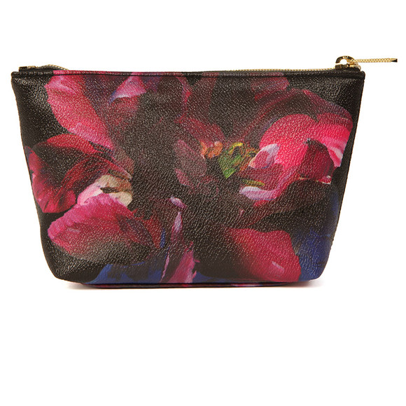 Ted Baker Womens Black Leaa Impressionist Bloom Make Up Bag main image