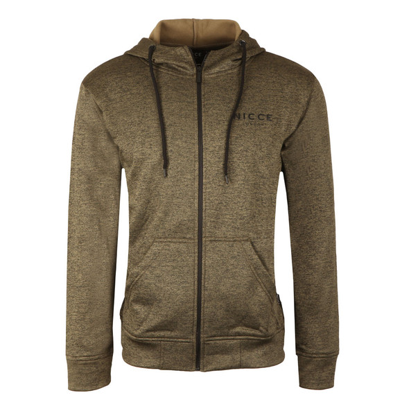Nicce Mens Green Polytech Zip Up Hoody main image