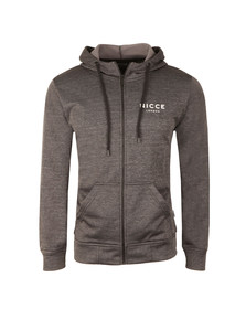 Nicce Mens Black Polytech Zip Up Hoody