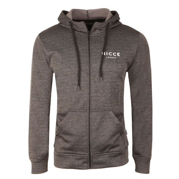 Nicce Mens Black Polytech Zip Up Hoody main image
