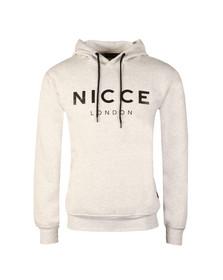 Nicce Mens Grey Original Logo Hoody