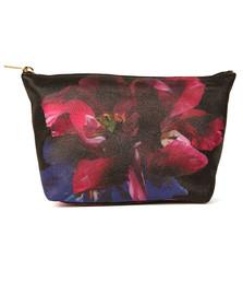 Ted Baker Womens Black Mearl Impressionist Bloom Washbag