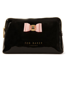 Ted Baker Womens Black Julis Bow Triangle Make Up Bag