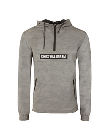 Kings Will Dream Mens Grey Tyrant Reflective Windrunner