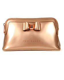 Ted Baker Womens Pink Bow Triangle Make Up Bag