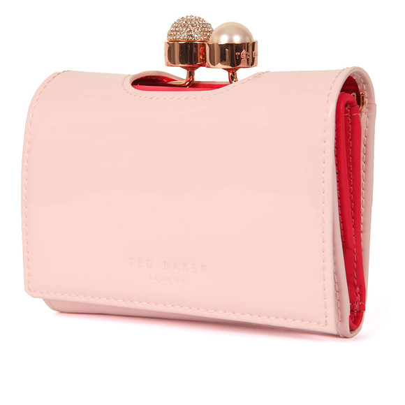 Ted Baker Womens Pink Cattrin Crystal Pearl Bobble Small Purse main image