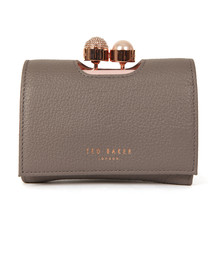 Ted Baker Womens Grey Crystal Pearl Bobble Small Purse