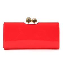 Ted Baker Womens Red Crystal Pearl Bobble Matinee Purse
