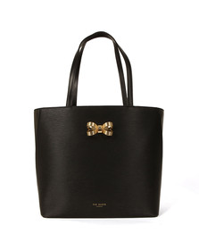 Ted Baker Womens Black Larah Looped Bow Shopper