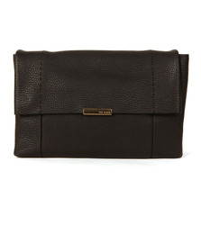 Ted Baker Womens Black Unlined Soft Leather Xbody  Bag