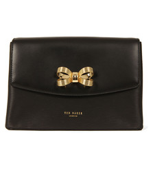 Ted Baker Womens Black Leiza Looped Bow Cross Body Bag