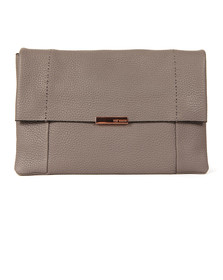 Ted Baker Womens Grey Parson Unlined Soft Leather Xbody  Bag