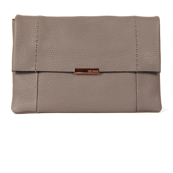 Ted Baker Womens Grey Parson Unlined Soft Leather Xbody  Bag main image