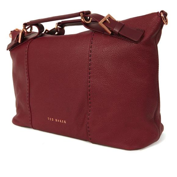 Ted Baker Womens Red Salbee Bridle Handle Medium Tote Bag main image