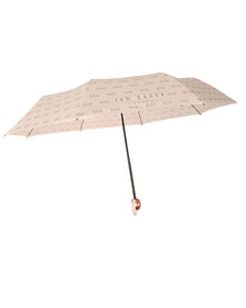 Ted Baker Womens Pink Bow Embossed Umbrella