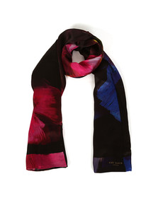 Ted Baker Womens Black Ivian Impressionist Bloom Long Scarf