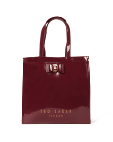 Ted Baker Womens Red Bow Detail Large Icon Bag