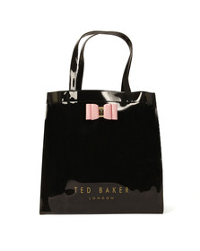 Ted Baker Womens Black Bow Detail Large Icon Bag